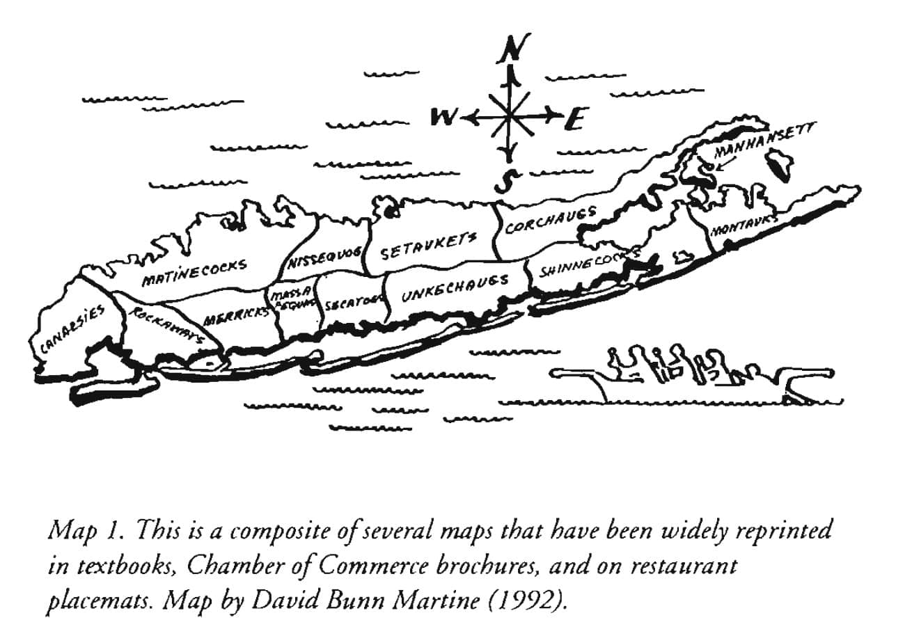 david-martine-map-of-long-island-tribes Pre 1640 - 13 Tribes of Long Island - David Martine Jeremy Dennis On This Site