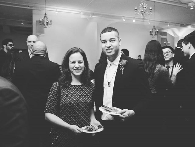 Nice photo with Karen Levitov, Director and Curator of Paul W. Zuccaire Gallery at Stony Brook University at the 40 Under 40