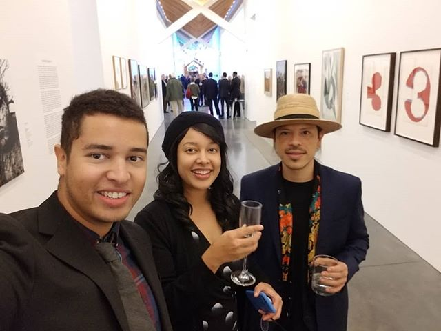 A good night with @parrishart @jennifer_cross_artist @esly.e.escobar @takeynea2 please let me know if you want to visit the Parrish together and see my work on display!! 😬