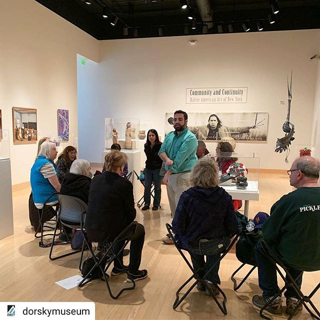 #Repost @dorskymuseum @gwennie32@nysmuseum • • • • •Zachary Bowman, the Dorsky's Manager of Education, leading a Lifetime Learning Institute class in our galleries.......#dorskymuseum #lifetimelearning #sunynewpaltz #communityandcontinuity #nativeamericanart #upstate #hudsonvalley #education @sunynewpaltz @hudsonvalleyseniors