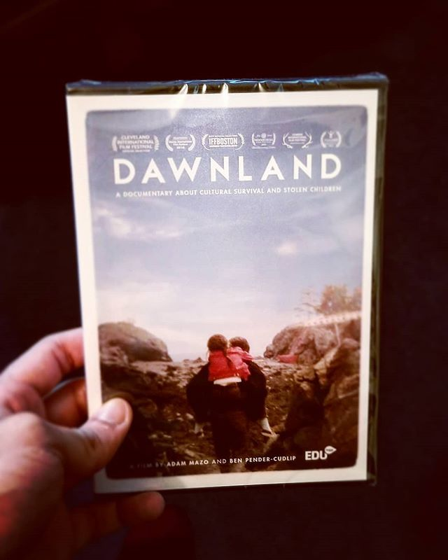 Received my copy of @dawnlandmovie thank you! @ben_pc @adammazo @tracyrector please check out the movie on @pbs if you haven't seen it. Important documentary following the Truth and Reconciliation of Native families separated in Maine