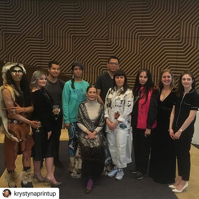 #Repost @krystynaprintup• • • • •Cheers to the artists and the amazing curators for an powerful evening celebrating all of our INDIGENOUS VOICES!!