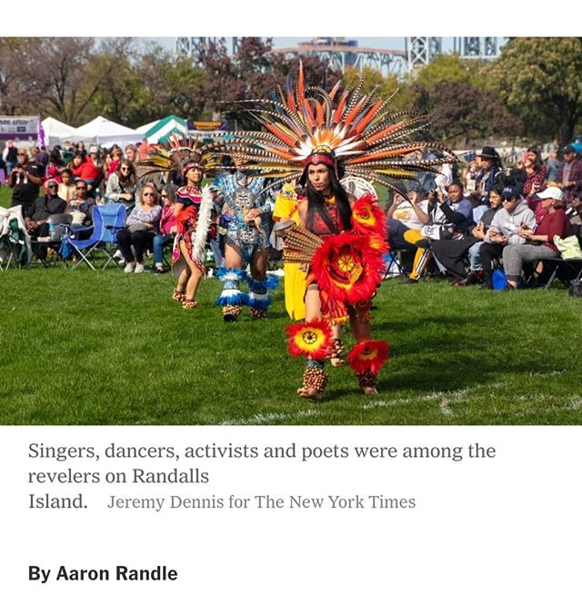 "Please check out images I took for Indigenous Peoples' Day on Randall's Island, NYC. ""This isn't a day about protesting Columbus, it's about celebrating indigenous people,"" the founder of Indigenous Peoples Day New York City said. The event has become part of a larger conversation about how the city recognizes historical events. Link in Bio!"