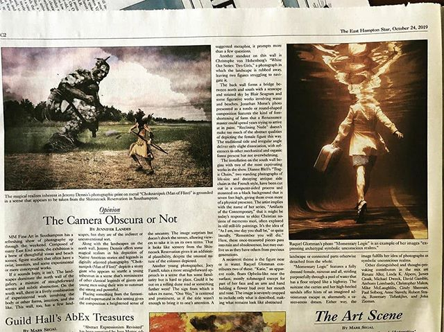 Reposted from @m_and_mfineart (@get_regrann) -  Thank you @jenniferllandes and the @easthamptonstar for the terrific article on our current photo exhibition!!! Don't miss it, final weekend! ....#mmfineart #easthamptonstar #hamptons #jenniferlandes @raquelglottman @jeremynative @dianneblell @joeyfarrellphoto @christophevonhohenberg @lindakalpern @jameslcroak @2lbtony2lbtony @rosemary.tufankjian @davidgambleartist #photography #contemporaryphotography #fineartphotography @airseasurf #jonathanmorse - #regrann
